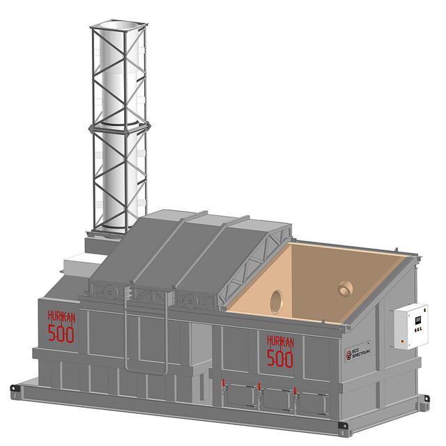 Инсинератор HURIKAN (УРАГАН) 500 - Удобное и безопасное обслуживание