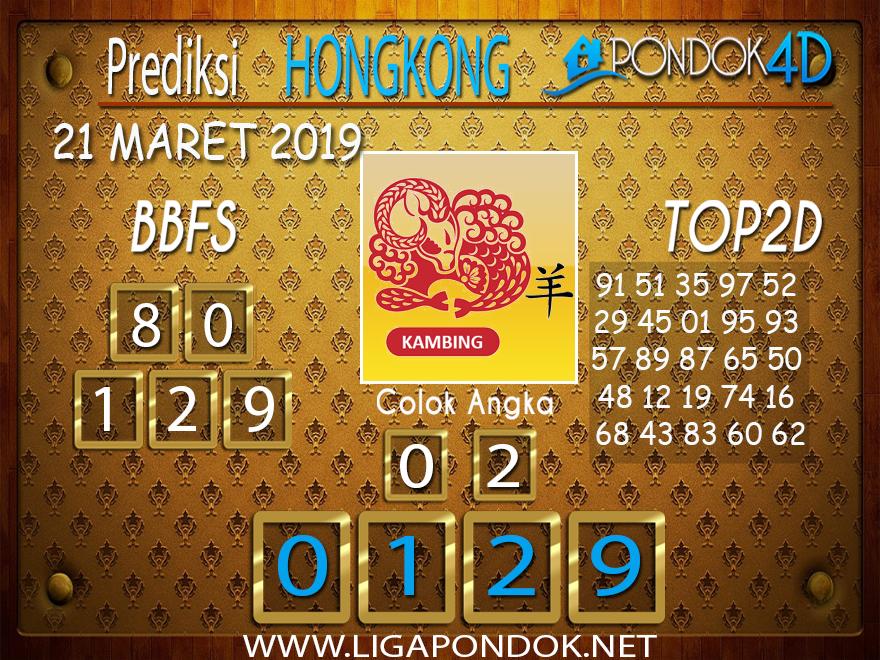 Prediksi Togel HONGKONG  PONDOK4D 21 MARET 2019