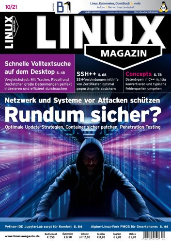 Cover: Linux Magazin No 10 2021