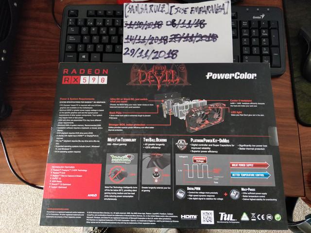 Tarjeta de vídeo] PowerColor RX 590 8GB Red Devil - $260 000 + AMD