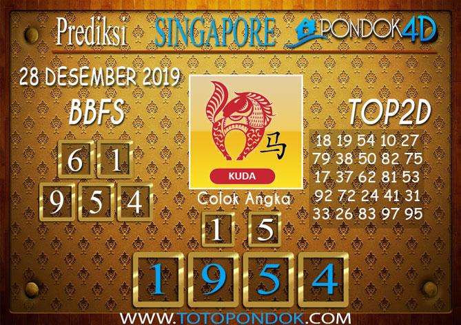 Prediksi Togel SINGAPORE PONDOK4D 28 DESEMBER 2019