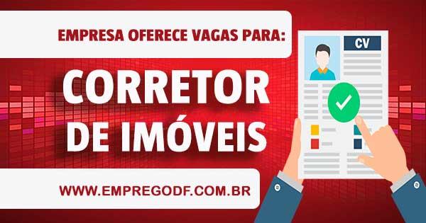 EMPREGO PARA CORRETOR DE IMÓVEIS