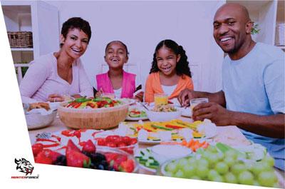 Exteriorizando a alimentação infantil e exaltando alimentos saudáveis