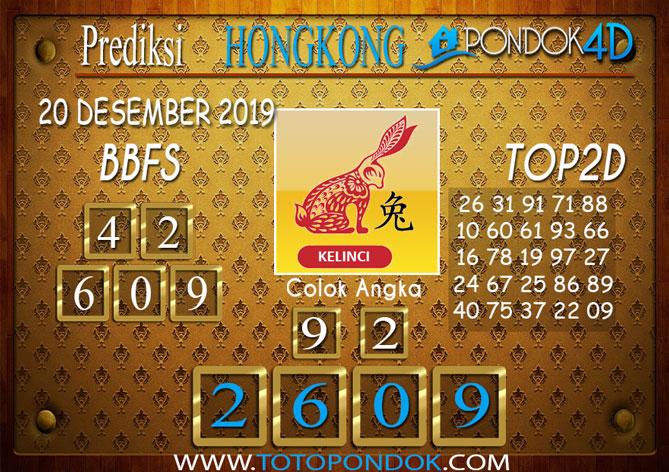 Prediksi Togel HONGKONG PONDOK4D 20 DESEMBER 2019