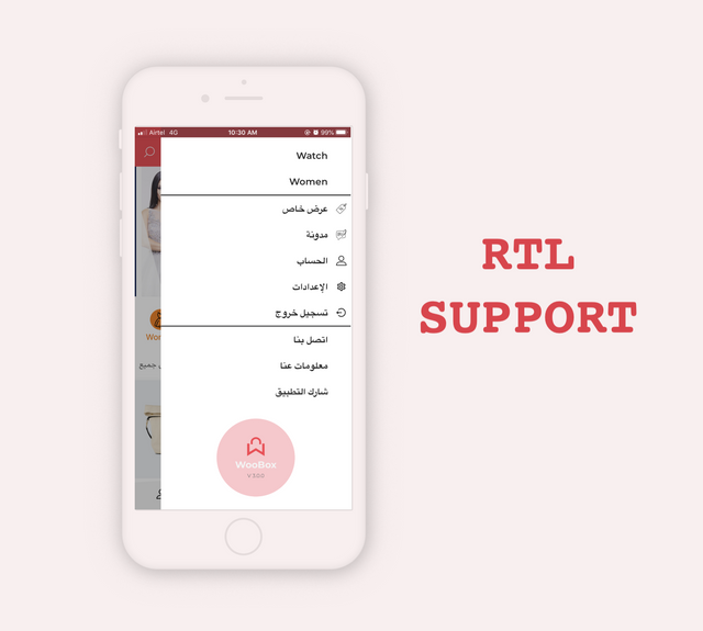 # woocommerce ios app e-commerce full mobile app + swift 4 WooBox NEW RTL