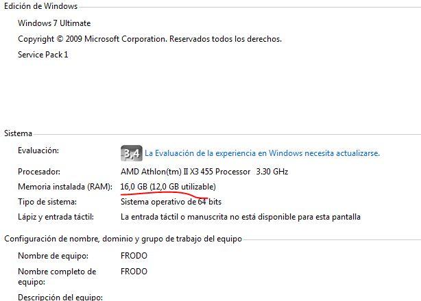 Cosa de Memorias DDR3. Bios y windows detectan 12GB, Cpu-Z, Specy 16GB...
