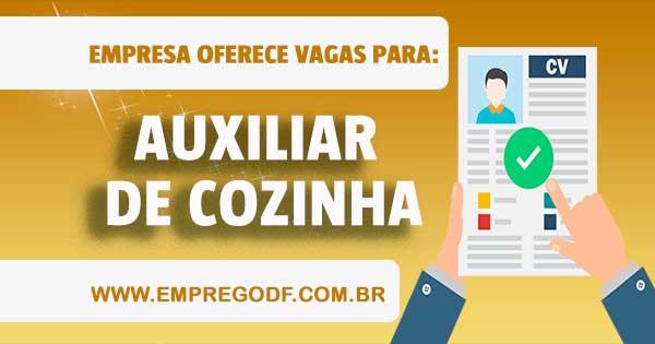EMPREGO PARA AUXILIAR DE COZINHA
