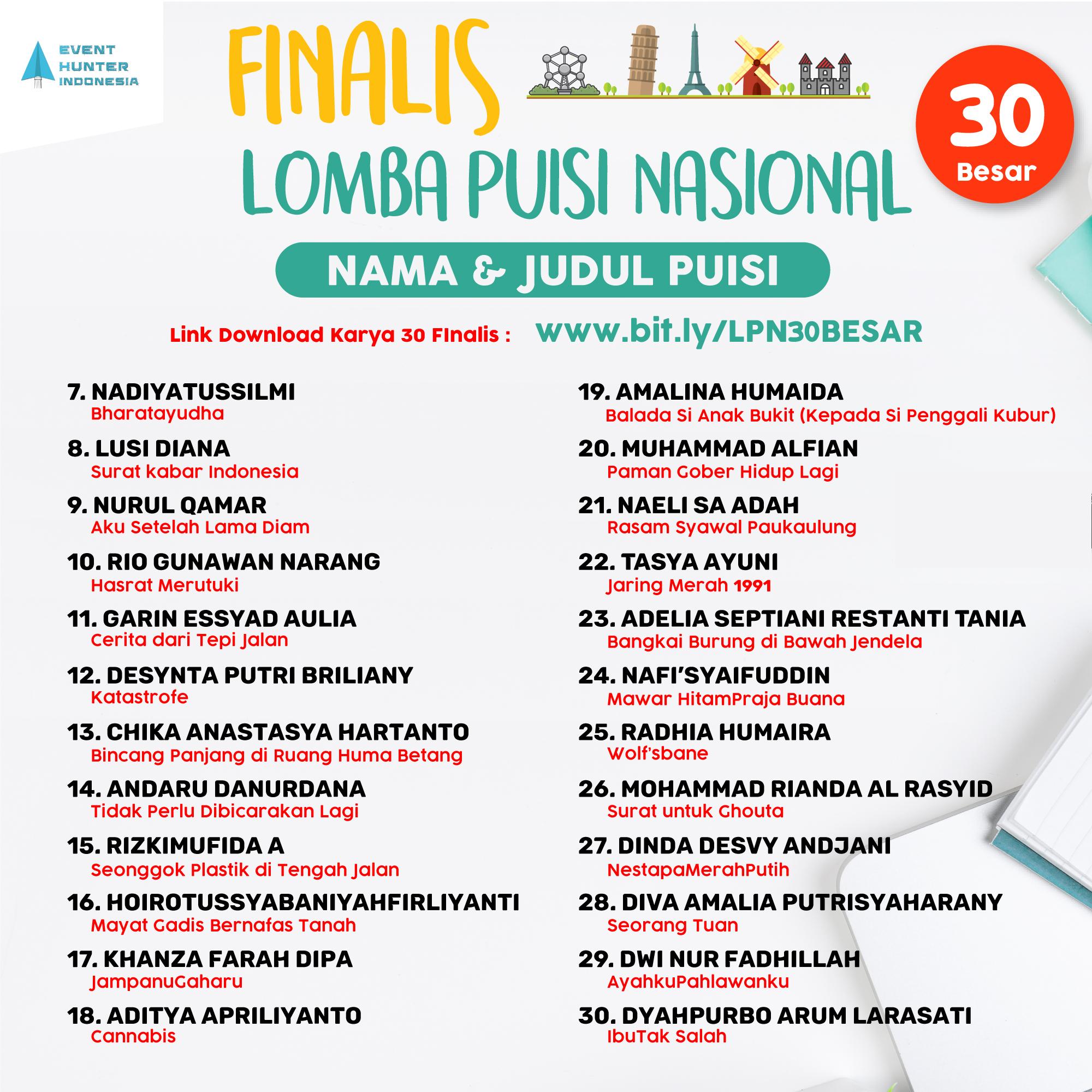 Pengumuman Finalis LPN #2 EHI