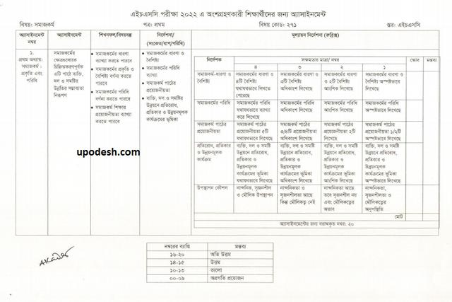 Social Work 1st paper Assignment