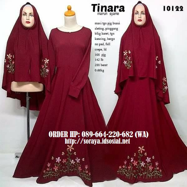 jual baju muslimah tinara marun syarie 10122