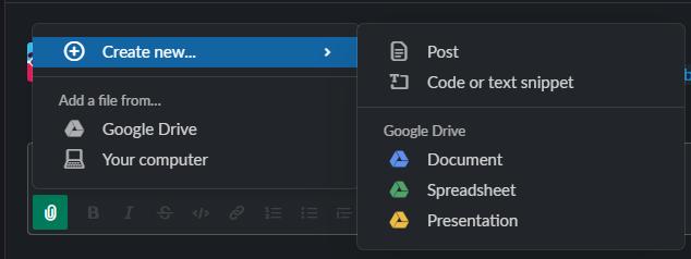 Send a file on Slack