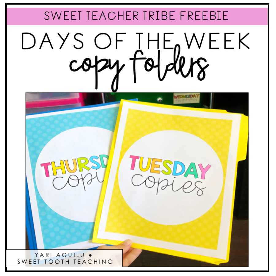 Days of the Week Copy Folders
