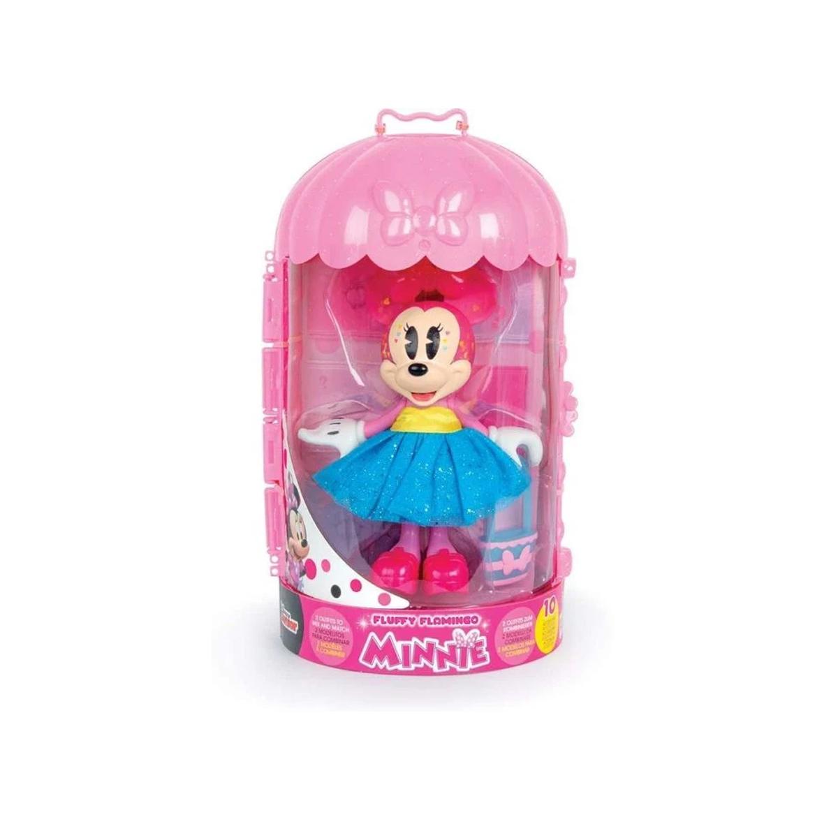 დისნეი Minnie Mouse-ის Fashion Dolls Fluffy ფიგურა ტანსაცმლითა და აქსესუარებით IMC TOYS 450372