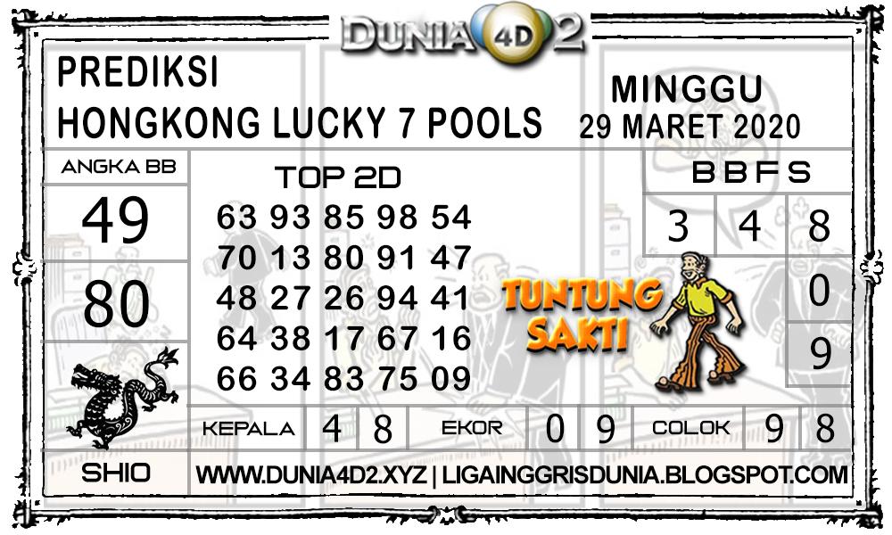 Prediksi Togel HONGKONG LUCKY7 DUNIA4D2 29 MARET 2020