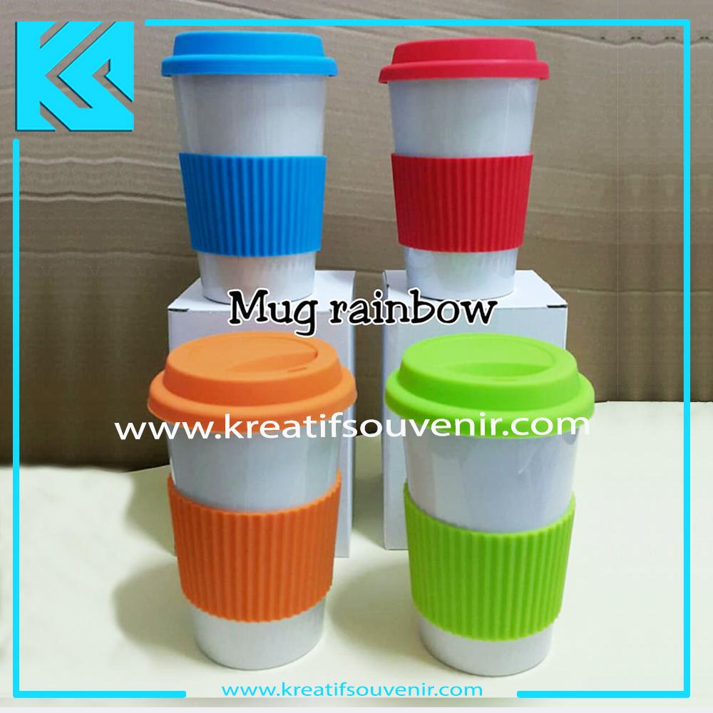 Mug Rainbow Keramik - Custom Cheap