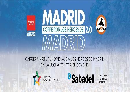 La Carrera Madrid Corre por los Héroes de Madrid 2.0 se celebrará el 13 de Septiembre de manera virtual