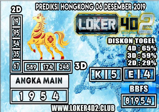 PREDIKSI TOGEL HONGKONG POOLS LOKER4D2 06 DESEMBER 2019