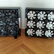 I\P: 2x MO-RA3 360 LT BLACK - externy radiator na vodne chladenie