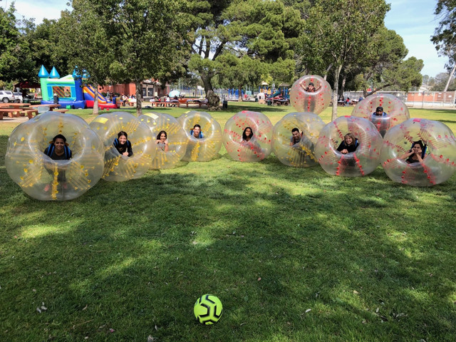 Client who utilized our Bubble Soccer Rental in West Los Angeles.