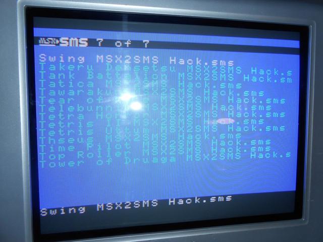 """MSX2SMS Compilation 500in1 """"Commandes ouvertes!!"""" DSCN1686"""
