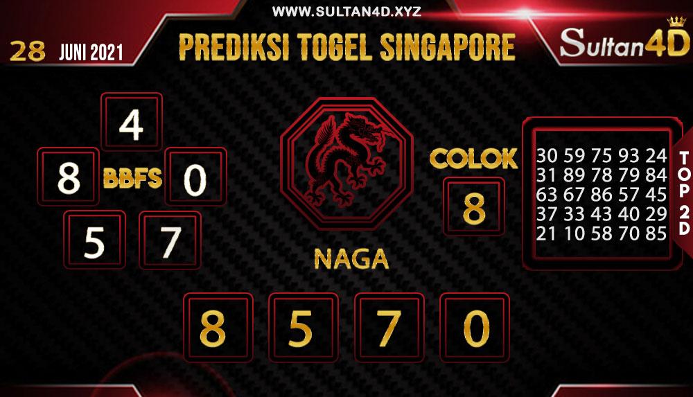 PREDIKSI TOGEL SINGAPORE SULTAN4D 28 JUNI 2021