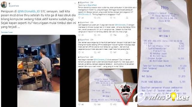 Penipuan Oknum Pegawai Resto Cepat Saji, Kantongi Uang Pelanggan
