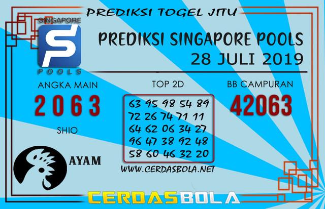 """Prediksi Togel """"SINGAPORE"""" CERDASBOLA 28 JULI 2019"""