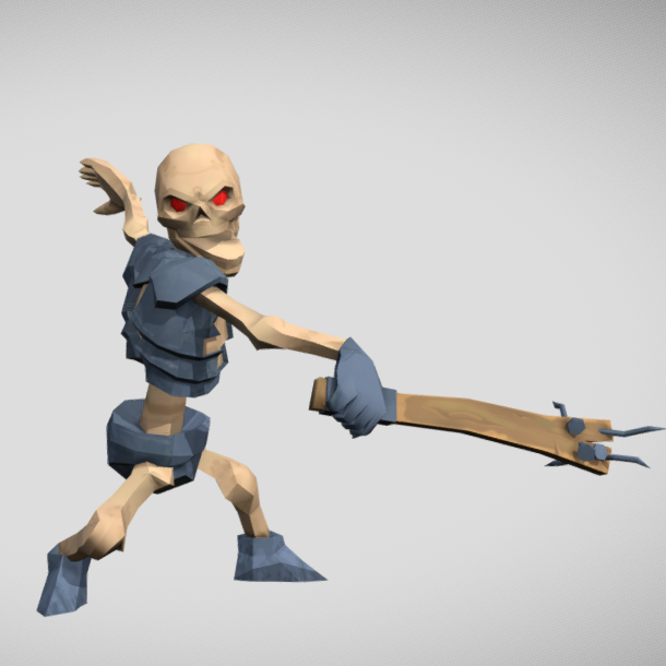 Animated LowPoly Skeleton 's icon