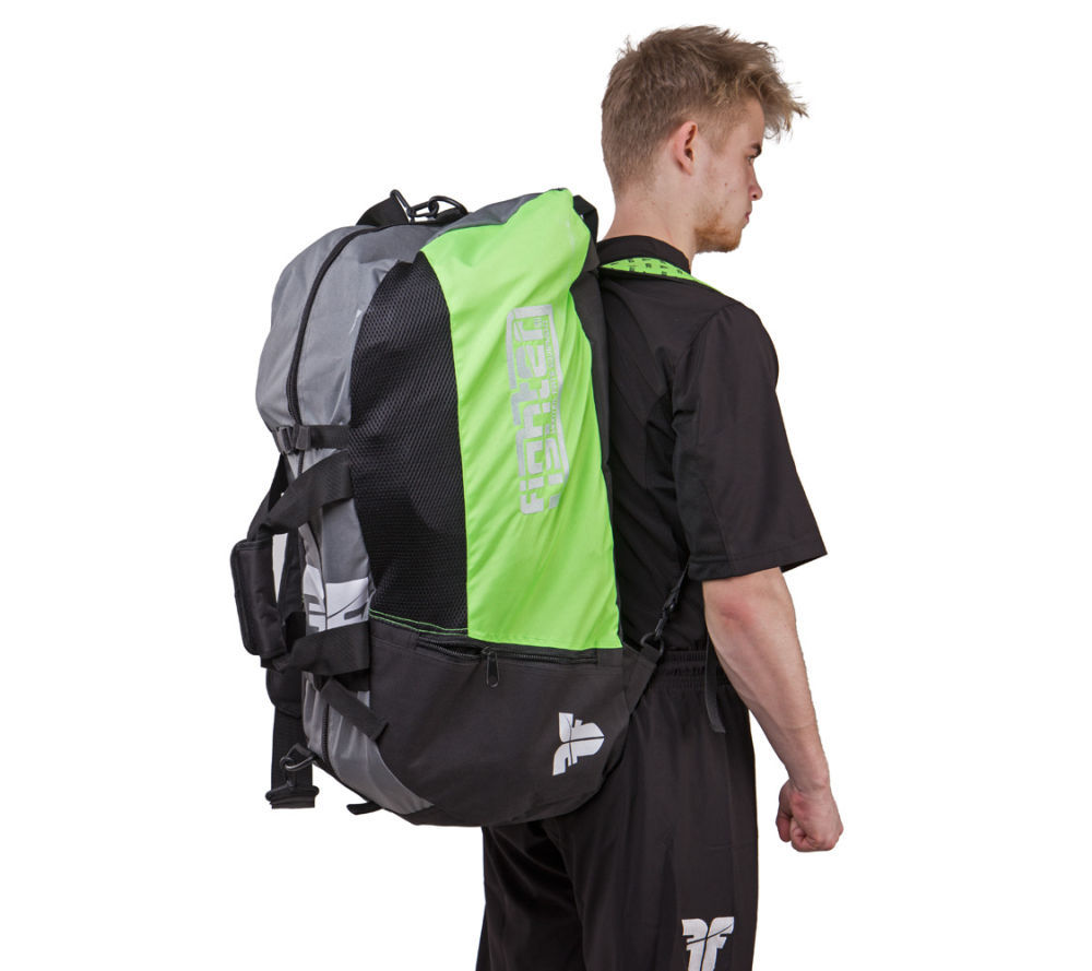 Оригинальная Спортивная сумка-рюкзак Fighter зеленая  бренд Чехия