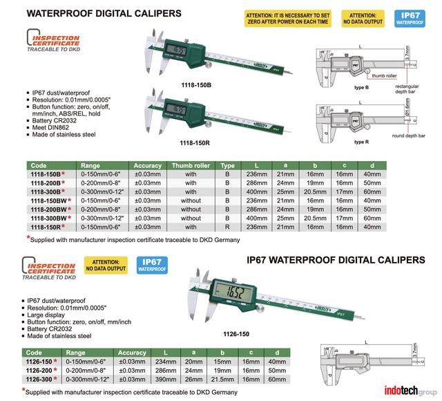waterproof digital caliper