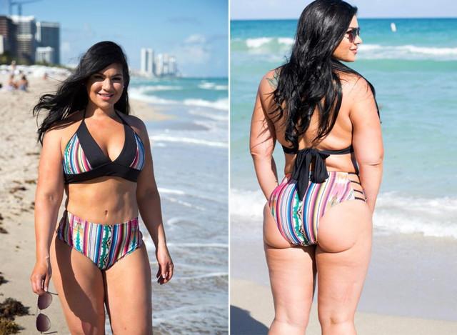 marlene shows curves beach