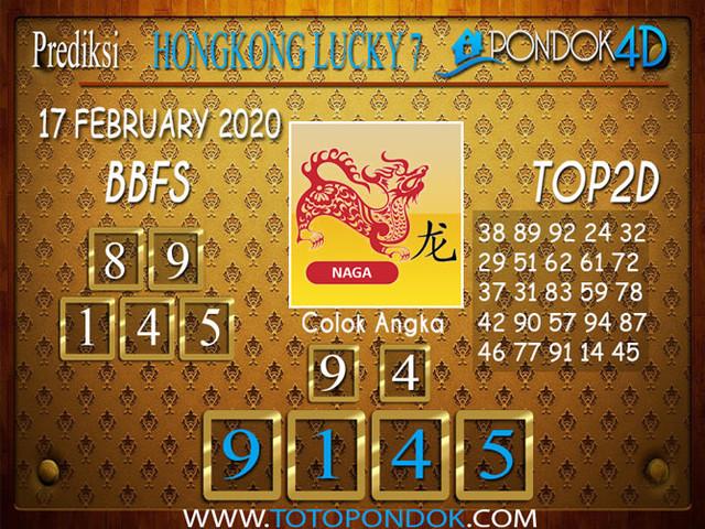 Prediksi Togel HONGKONG LUCKY 7 PONDOK4D 17 FEBRUARY 2020