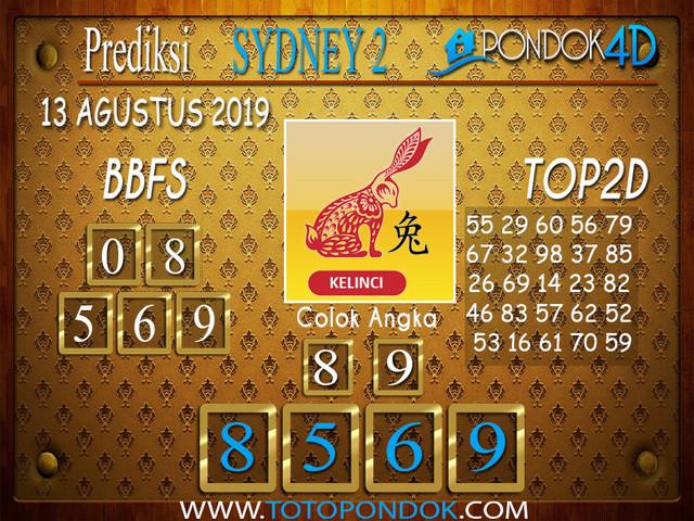 Prediksi Togel SYDNEY 2 PONDOK4D 13 AGUSTUS 2019