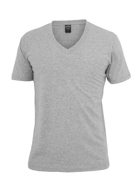 urban classics men t shirt with v neck basic grey 28937