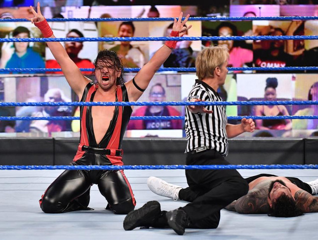 Shinsuke Nakamura derrotó a Jey Uso SmackDown 15 Enero