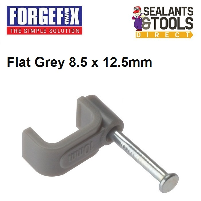 Forgefix-Grey-flat-electric-cable-clip-6-0mm-box-of-100-2