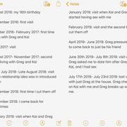 Sarah's Timeline