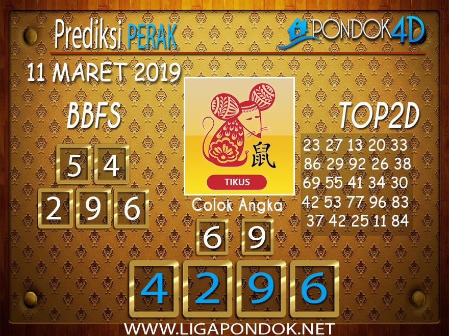 Prediksi Togel PERAK  PONDOK4D 11 MARET 2019