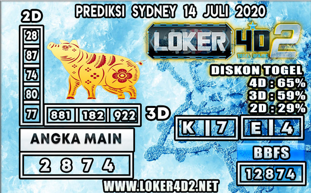 PREDIKSI TOGEL SYDNEY LOKER4D2 14 JULI 2020