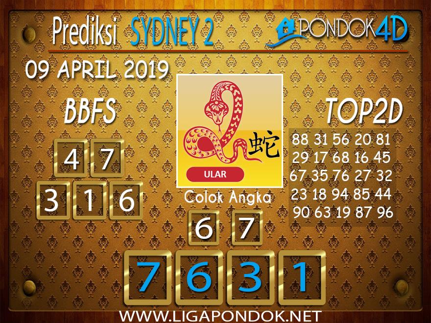 Prediksi Togel SYDNEY 2 PONDOK4D 09 APRIL 2019