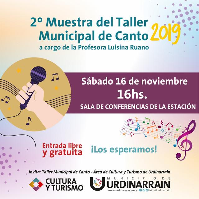 2º Muestra del Taller Municipal de Canto 2019