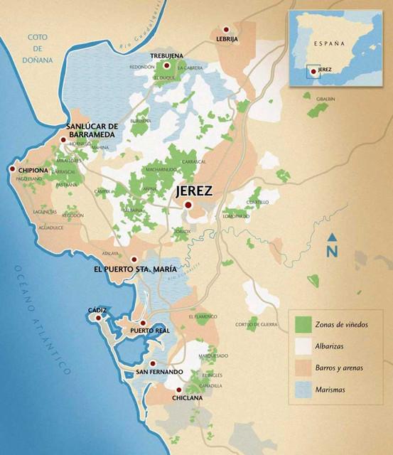 Mapa suelos jerez cata de vinos Valencia La cepa vieja