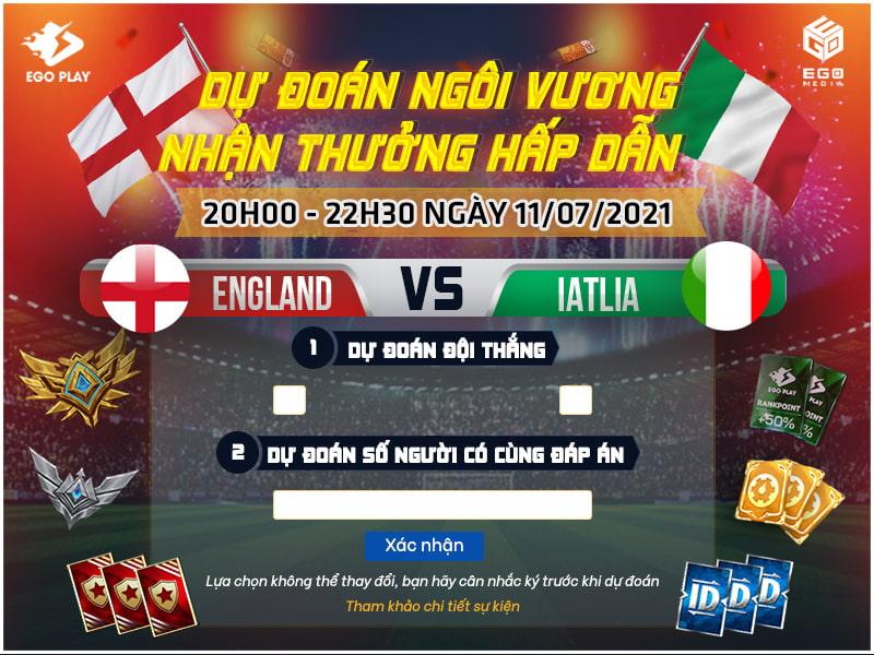[SỰ KIỆN] Chung kết EURO 2021: Dự đoán ngôi vương