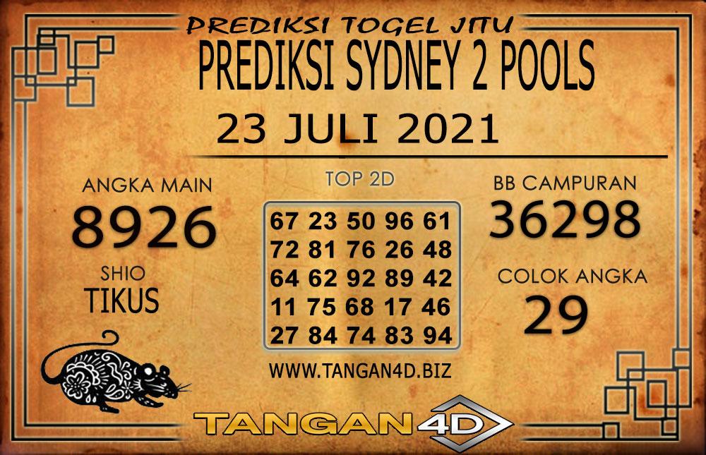 PREDIKSI TOGEL SYDNEY2 TANGAN4D 23 JULI 2021
