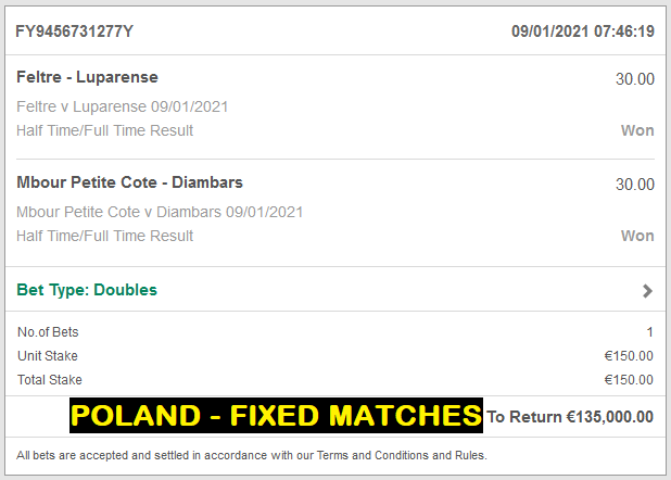DOUBLE FIXED HT FT FIXED MATCH
