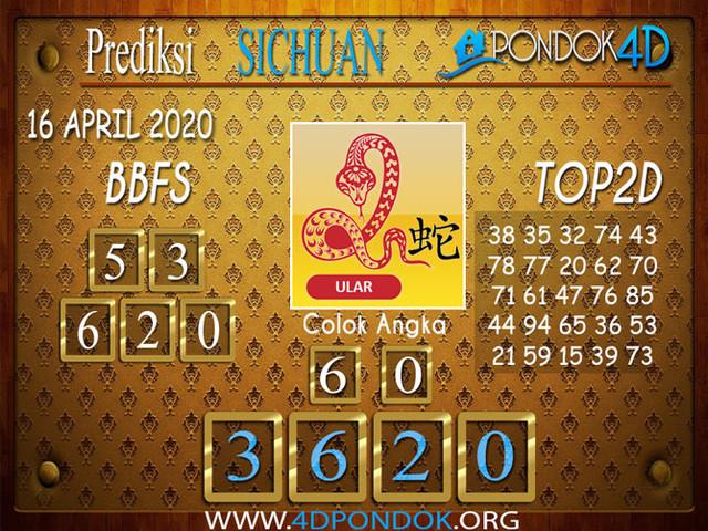 Prediksi Togel SICHUAN PONDOK4D 16 APRIL 2020