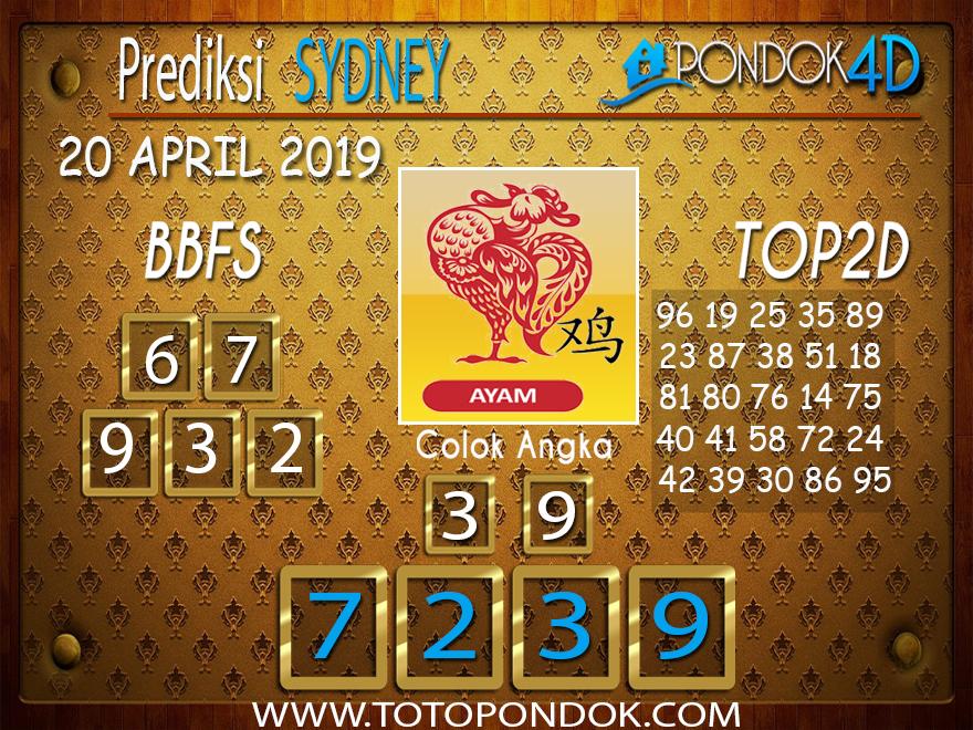 Prediksi Togel SYDNEY PONDOK4D 20 APRIL 2019