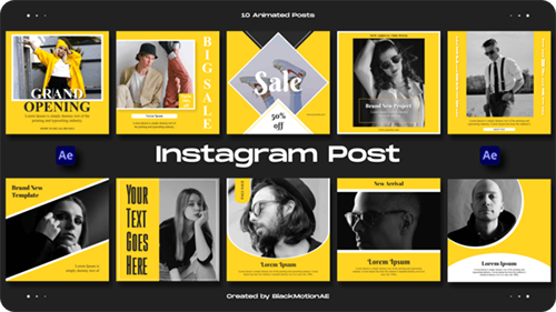 Instagram Posts v3 32915342 - Project for After Effects (Videohive)
