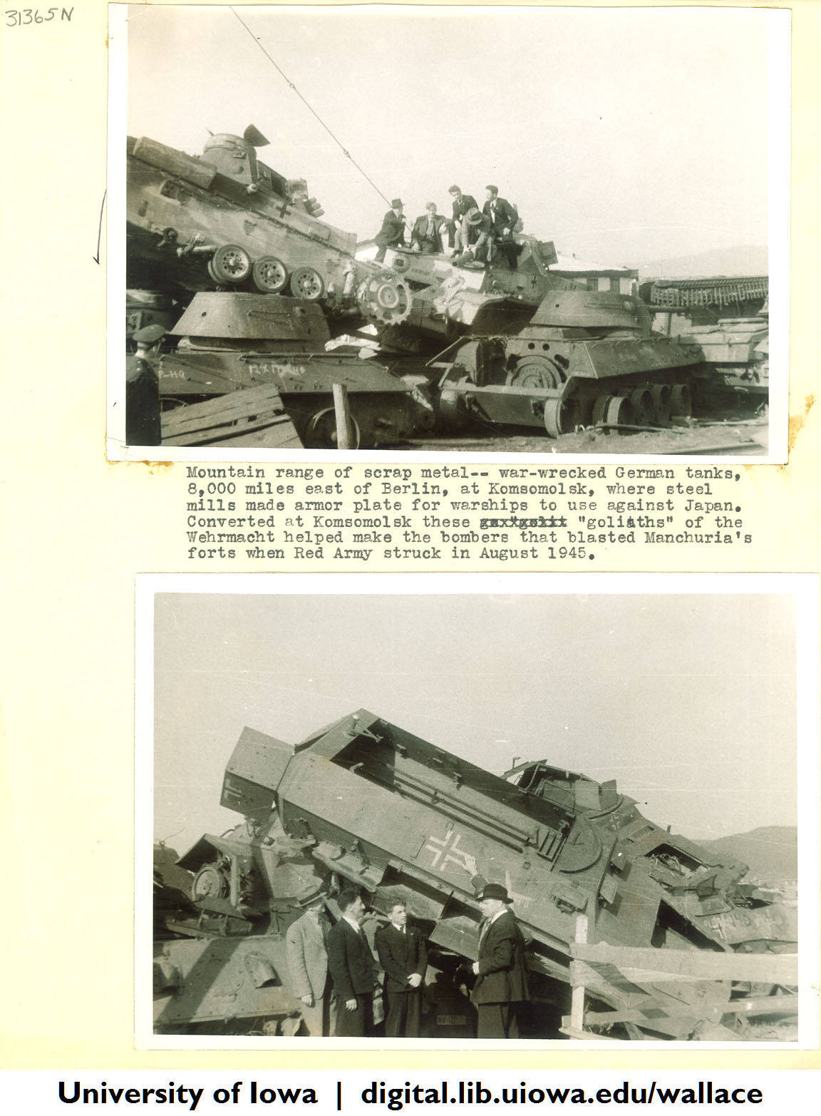 Warwrecked-German-tanks-turned-scrap-metal-Siberia-1944