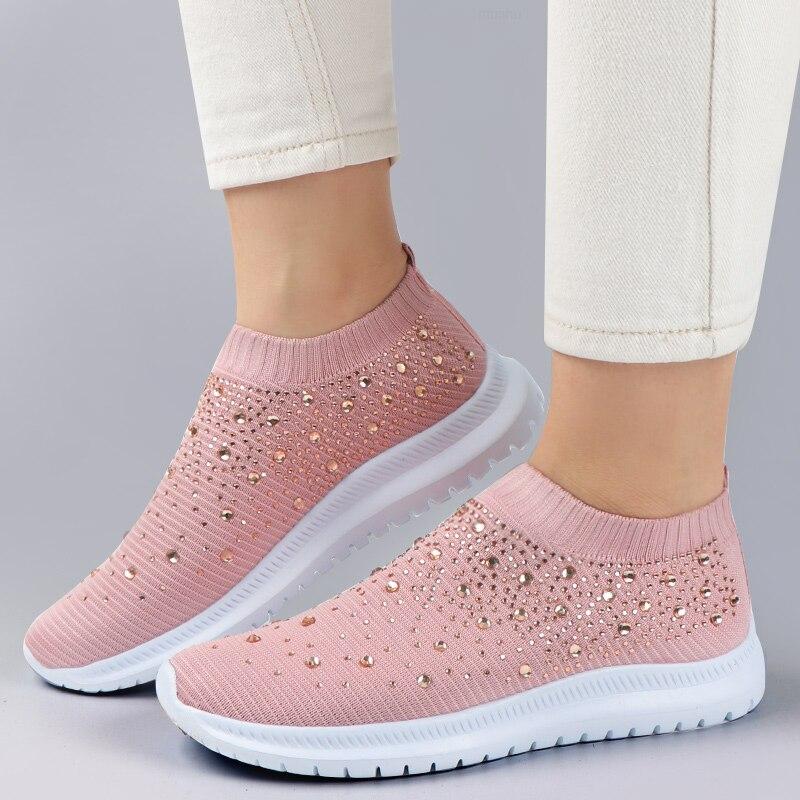 0-Gevulkaniseerd-Schoenen-Sneakers-Vrouwen-Trainers-Gebreide-Sneakers-Dames-Slip-On-Sok-Schoenen-Spa
